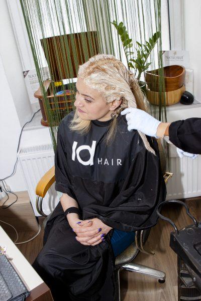 vopsire blond rece aplicare vopsea pe lungime 1